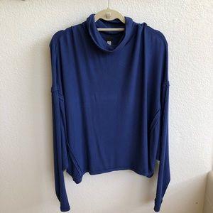 Free People Slouchy Blue Long-sleeve Sweater Sz M